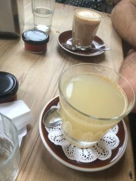 Lemon, honey + ginger tea