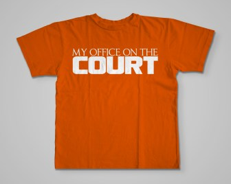 Official My Office On The Court T-Shirt orange