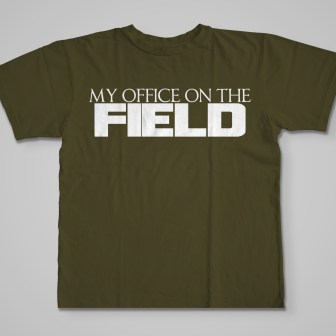 Official My Office On The Field T-Shirt green
