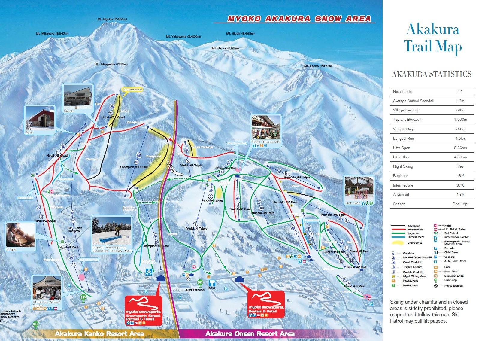 Akakura-Trail-Map The Resort & Lift Tickets
