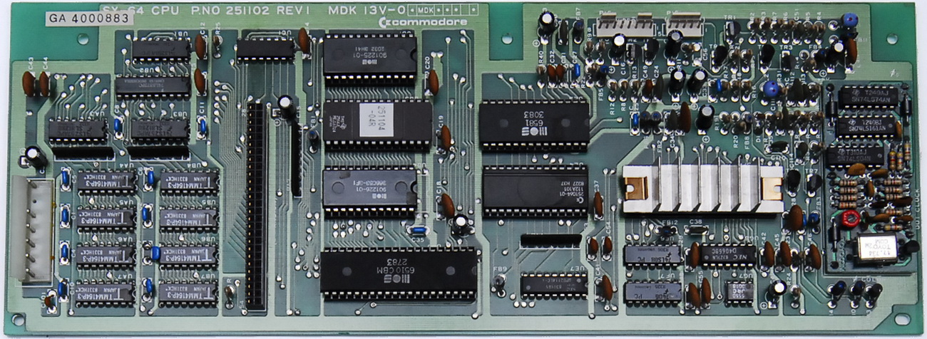 Commodore 64 Rev A Motherboard Schematics From 1982