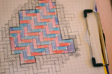I used to graph paper to make my design.