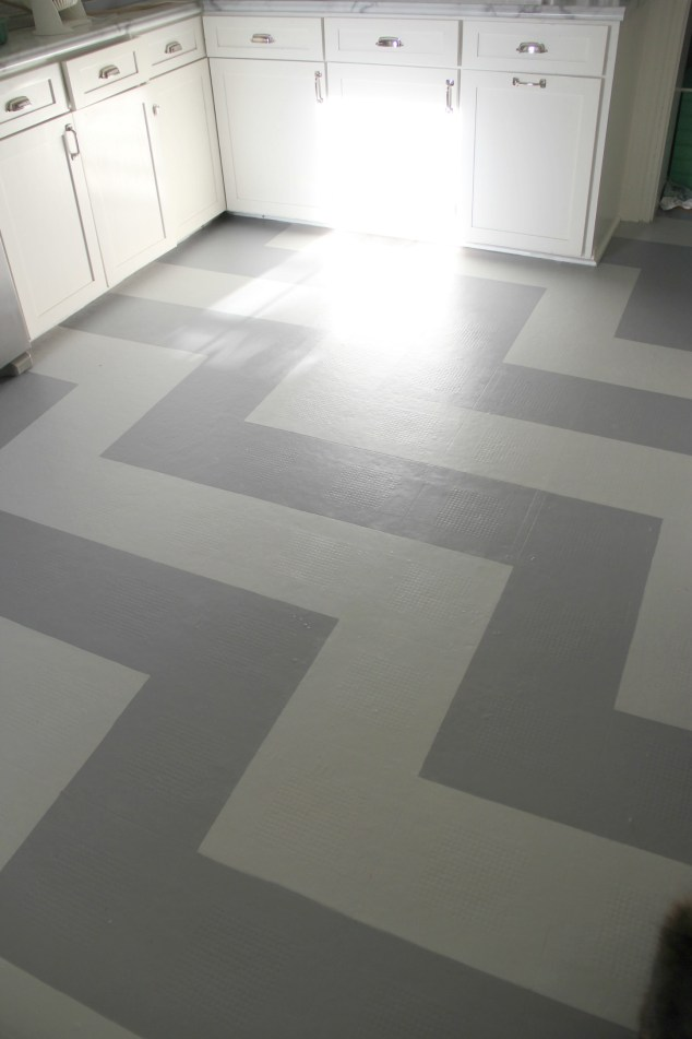 You can paint a vinyl floor for Paint over vinyl floors