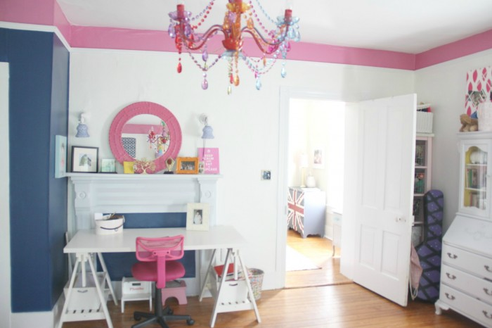 NAVY AND PINK TEEN GIRLS BEDROOM REVISITED