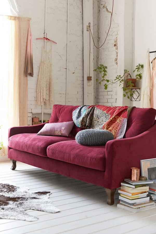 Design Dilemma Decorating Around The Burgundy Sofa