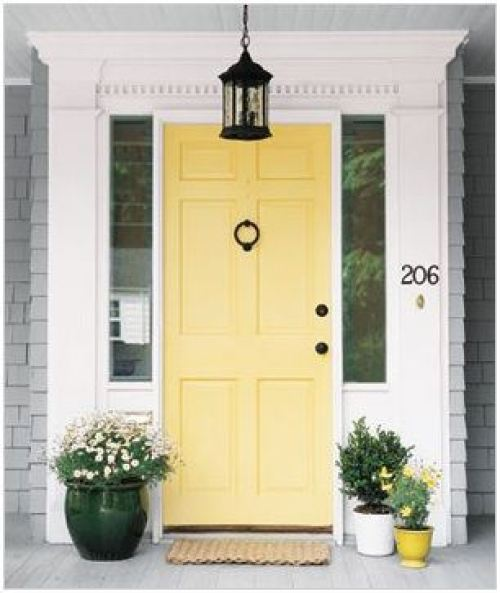 Hawthorne Yellow Front door from Pinterest