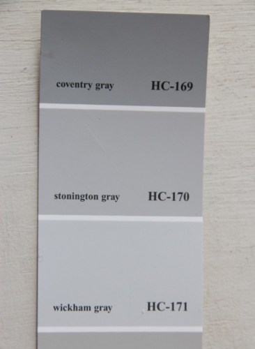 WICKAM GRAY, STONINGTON GRAY AND COVENTRY GRAY