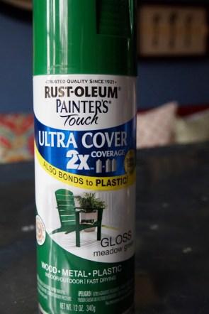 Rustoleam Painter's touch Meadow Green - photo from little black door
