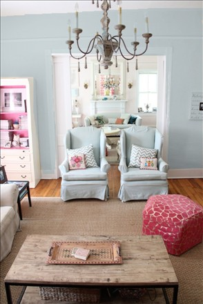 paint my living room french farmhouse choosing a color - personal viewer