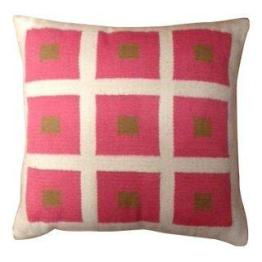 Jonathan Adler Pink Square Pillow