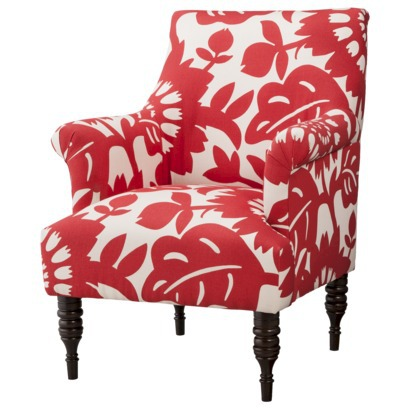 Candace Arm Chair - Red Floral