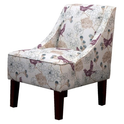 HUDSON SWOOP CHAIR - PLUM FLORAL