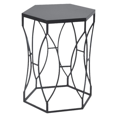THRESHOLD ACCENT TABLE MATTE METAL