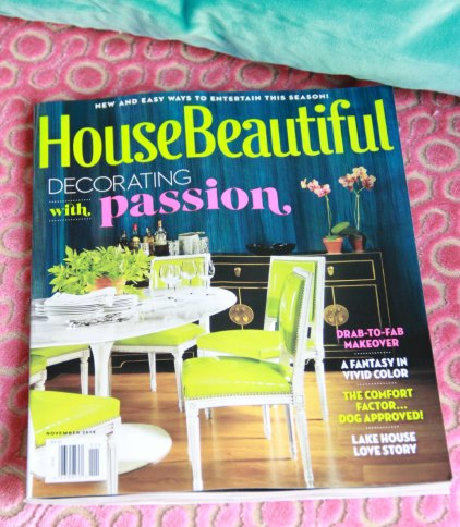 NOVEMBER 2014 ISSUE OF HOUSE BEAUTIFUL