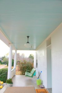 "MONDAY MAKEOVER - ""HAINT"" PORCH CEILING BLUE"