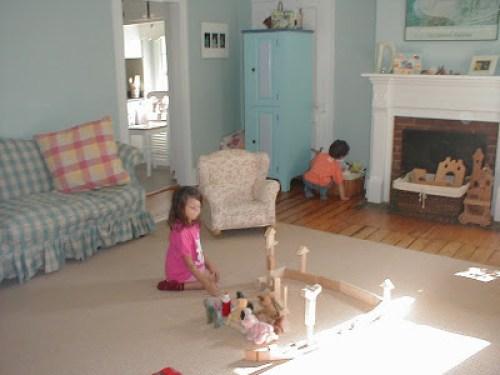 Blocks in the playroom