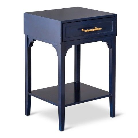 Lovely THRESHOLD ACCENT TABLE WITH BLUE MOTIF HANDLE AND TAKE AN ADDITIONAL