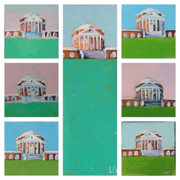 UVA ROTUNDA PAINTINGS FOR 2015 - IF YOU SEE ONE YOU LIKE EMAIL ME LSDEVITO@GMAIL.COM OR VISIT MY SITE - QUANITIES ARE VERY IMITED
