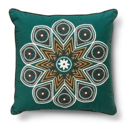 Threshold™ Embroidered Medallion Decorative Pillow - Green (Square)