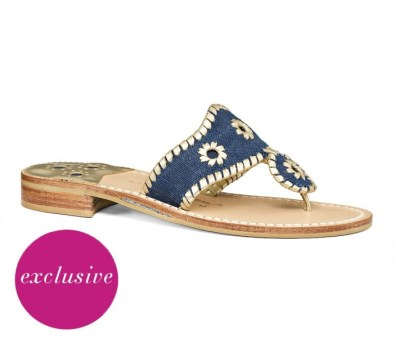 JACK ROGERS EXCLUSIVE DENIM