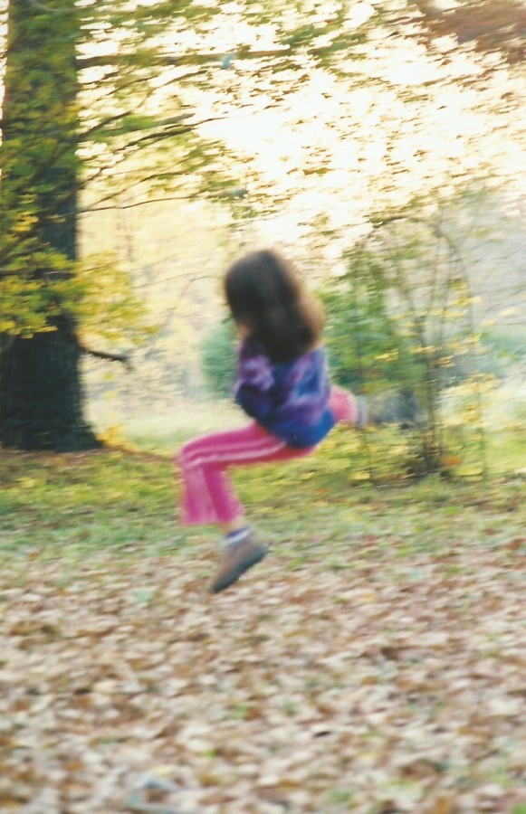 THE KIDS LIVED OUTSIDE IN THE FALL...THE CRUNCHING OF LEAVES..AND PHOEBE WAS ALWAYS A BLUR