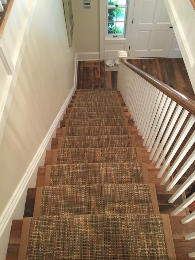 THE STAIRCASE IS PAINTED SHERWINN WILLIAMS STEAMED MILK