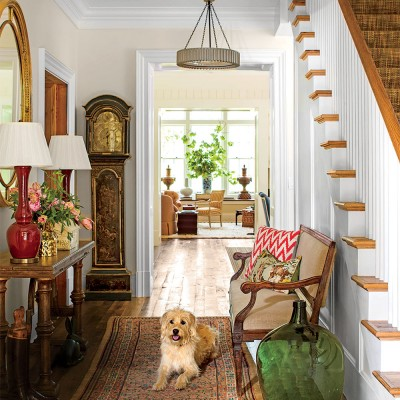 SOUTHERN LIVING MAGAZINE PHOTO OF THE ENTRYWAY...IF YOU NOTICE, SOME DETAILS