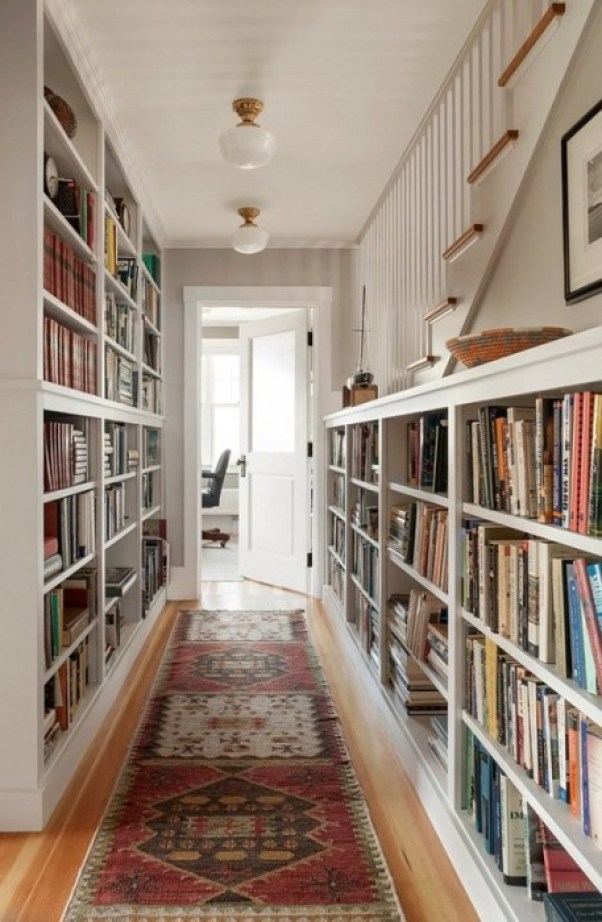 home bunch - I want to do built in book case upstairs