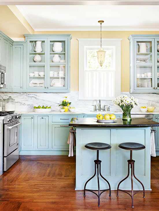 YELLOW AND BLUE KITCHEN