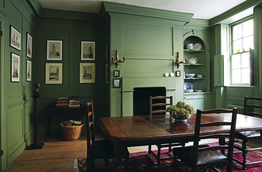 Farrow Ball Chalke Green Dining Room