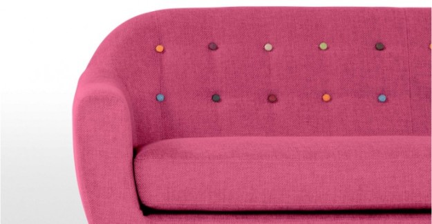 MADE.COM RITCHIE SOFA WITH COLORED BUTTONS - DROOL!!!