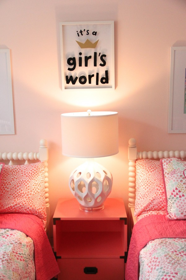 CORAL CAMPAIGN SIDE TABLE FROM LAND OF NOD.