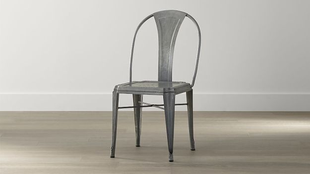 CRATE AND BARREL LYLE DING CHAIR - GALVANIZED - THESE CHAIRS ARE SO INCREDIBLE AND A MILLION TIMES BETTER THAN ALL OF THE CHEAPER VERSIONS OUT THERE!