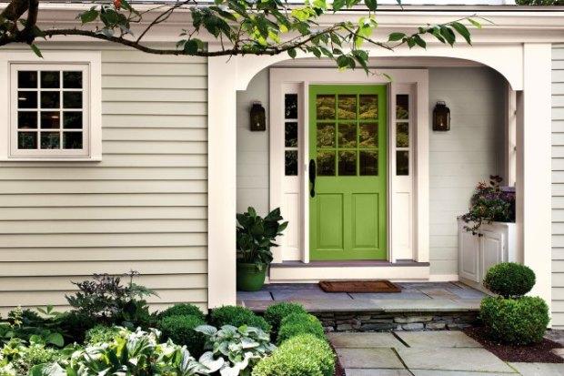 Pantone Color of the Year 2017 Front Door in Greenery Statement Doors