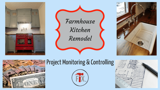 Farmhouse Kitchen Remodel: Part 4 – Project Monitoring & Controlling via @myoldhousefix