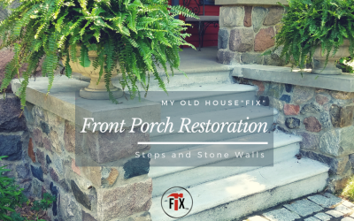 Concrete Steps and Stone Walls: Front Porch Restoration