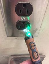 Voltage detector electrical tool