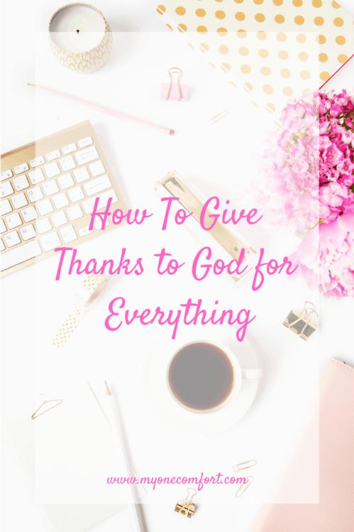 Gratitude for God's Provision