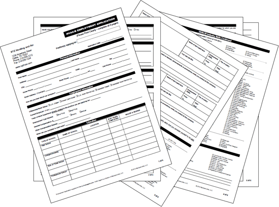 Create your own Customized Employment Application