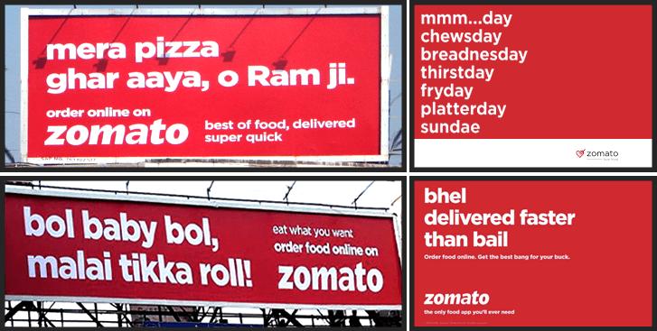 zomato creative ad campaign
