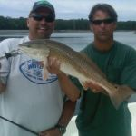 Dave Brown of BrownsInshore.com got a pretty redfish today