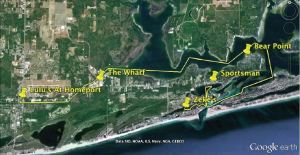 Gulf Shores Orange Beach 2012 Christmas Lighted Boat Parade Route