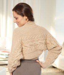 Free Knitting Pattern L10304 Crowded Cable Shrug : Lion Brand Yarn Company