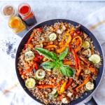 Ratatouille quinoa casserole