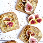 Beauty Fig Cheese Toast - ideal snack, breakfast or light meal mixing sweet fig flavor to creamy savory cheese