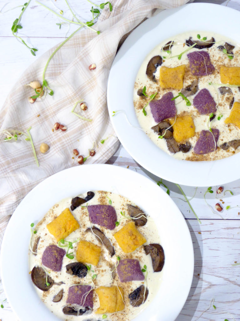 Sweet Potato Gnocchi - Delicious filling vegan and gluten-free pasta alternative