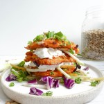 SWEET POTATOE LATKES SANDWICH | Oven Baked