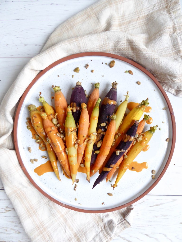 Spicy Tahini Butter Carrots - Easy and delicious very appealing appetizer or side dish for dinner.