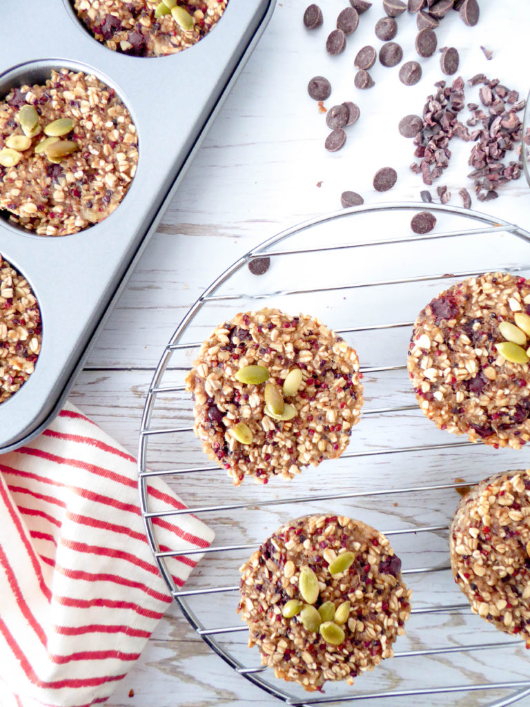 3-ingredient Banana Quinoa Muffin - super easy and healthy muffin, ideal as a power snack!