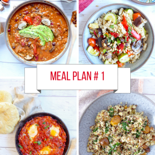 Meal Prep #1 - Easy plant-based menu with affordable ingredients.